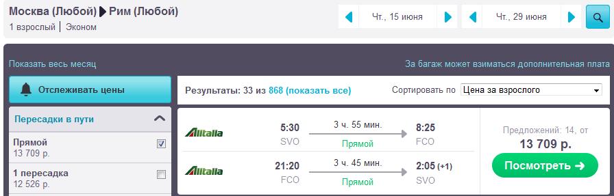 Компания Аэрофлот Alitalia